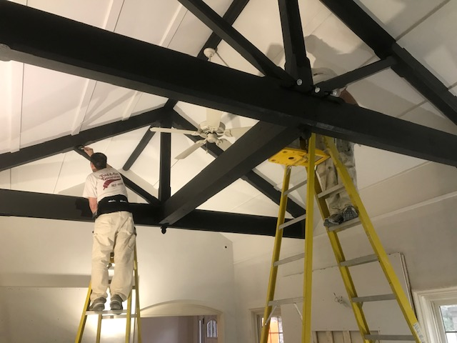 Painting Beams And Celing